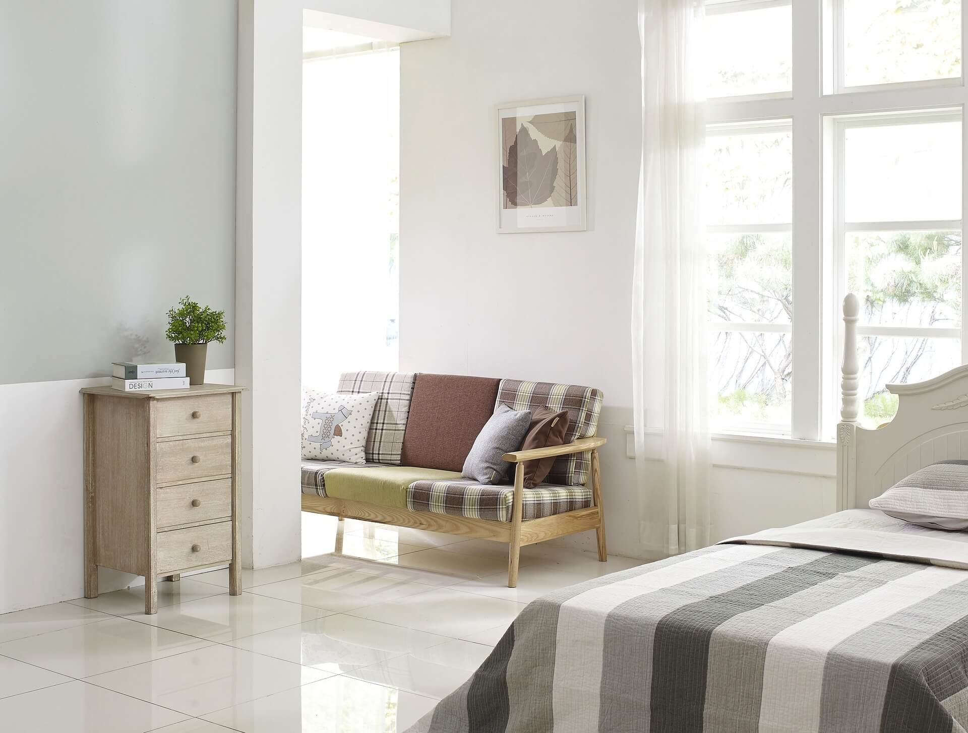 slaapkamer en allergie